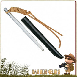 Affuteur lame de couteaux de survie, chasse et pêche. Fusil de poche PUMA acier inoxydable, fourreau étui et lanyard cuir