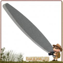 Pierre à faux corindon de 23 cm pour affûtage de vos couteaux et outils. Affûtage à sec, sans eau ni huile