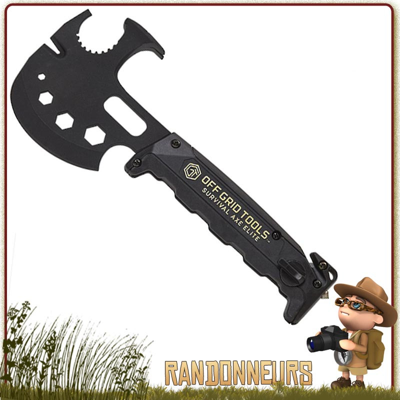 Champ Main Outil -fb04-bk Survie,Pêche Axe Feu Axe Ultimate Camping Outil