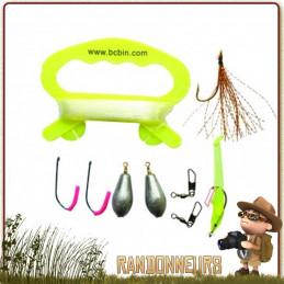 Kit complet de survie avec tout le nécessaire pour la pêche en situation de survie