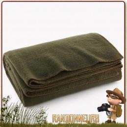 couverture de survie en laine chaude agréable à porter. Traitement retardant au feu, utilisation en bushcraft nature