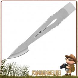 lame d'épieu Buck Kinetic pointe de lame allongée pour l'intégrer manche en bois en vue de créer épieu pour la chasse