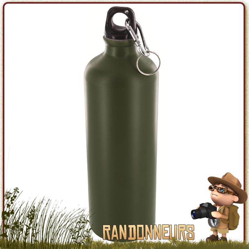 gourde militaire aluminium 1 litre highlander pro force vert olive
