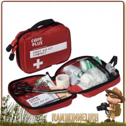 Trousse de premiers soins compacte Care Plus dans étui nylon avec passant en velcro pour la ceinture ou le guidon de vélo