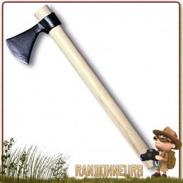 Hache Frontier Hawk Cold Steel, ultra robuste, manche en bois, longueur totale 55 cm