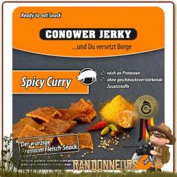 Viande de PORC séchée au Curry Conower sachet 25 grammes, viande de porc déshydratée à haute teneur en protéines