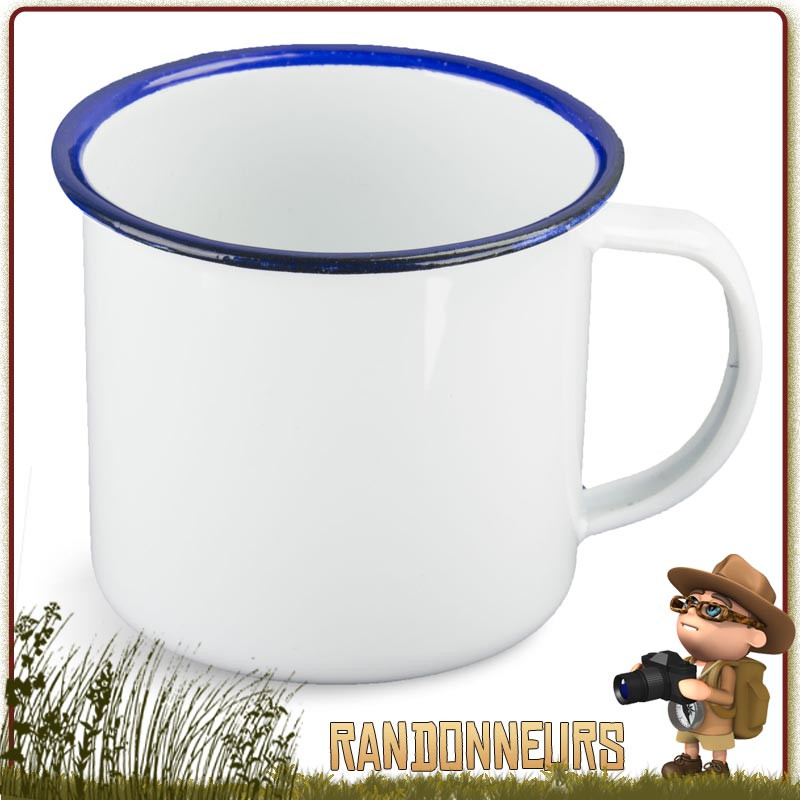 Petromax Noir Émail Camping Mug