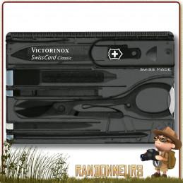 Carte multi-fonctions survival tool SwissCard Classic Victorinox. Outil multifonctions de la taille d'une carte de crédit
