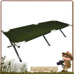 Lit de camp armature militaire aluminium, lit pliant armée camping bivouac. Lit de camp résistance 120 kg