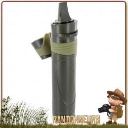 paille filtrante L600 Miniwell adaptée à  traitement de l'eau en randonnée légère ou survie nature