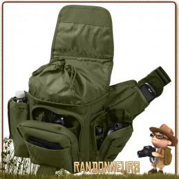 Sac Bandouliere Militaire MOLLE Vert Rothco portage équipement bushcraft survie sur le torse