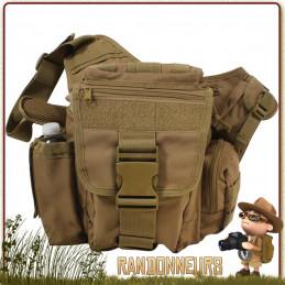 Sac Bandouliere Bushcraft MOLLE Vert Rothco sac polyvalent pour le terrain, kit EDV et BOB pour la survie