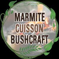 MARMITE CUISSON BUSHCRAFT grande capacité acier inox avec poignée pour suspendre au dessus feu de bois