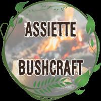assiette bushcraft inox résistante au feu de bois assiette tole émaillée vintage bivouac bushcraft