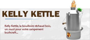 Kelly Kettle, la Bouilloire Réchaud bois bushcraft de votre bivouac