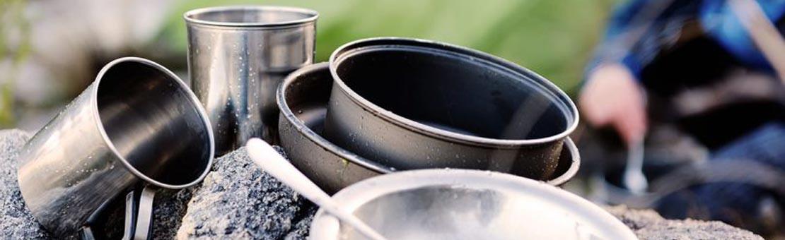 Equipez vous avec les meilleures popotes et vaisselle inox bushcraft